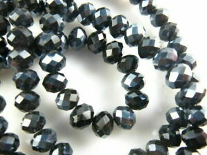 Pretty 6mm 100ps Faceted Glass Crystal Rondelle Beads Necklace&Bracelet Findings
