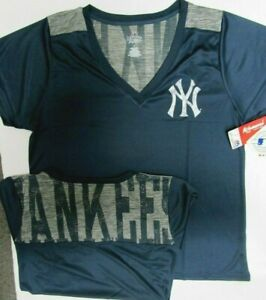 NEW YORK YANKEES WOMANS PLUS SIZE SHIRT NEW W TAGS MAJESTIC