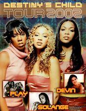 Beyonce / Destiny'S Child 2002 Survivor World Tour Concert Program Book Nm 2 Mnt