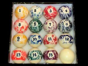 TNT Marble  2-1/4 inch Billiards Pool Balls