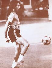 "Bob Marley Poster Print - Playing Soccer - 11""x14"" Sepia"
