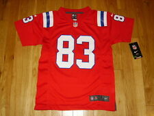NEW 2012 NIKE WES WELKER RED NEW ENGLAND PATRIOTS YOUTH NFL REPLICA JERSEY MED
