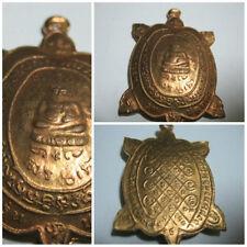 Copper Pendant 1993 LP Liew Turtle Shape Coin Thai Talisman Charm Amulet H21-2