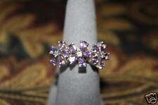 Esposito Designer ring 925 SS 3 flower design sz 7.25