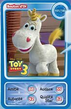 CARTE AUCHAN DISNEY N°101 BOUTON D'OR TOY STORY
