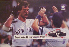 1988 Don Mattingly New York Yankees Baseball Memorabilia Converse Shoes Promo AD