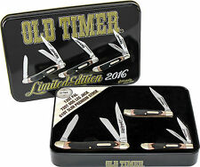 SCHRADE OLD TIMER 2016 THREE POCKET KNIFE & TIN GIFT SET 12OT, 61OT & 72OT NEW