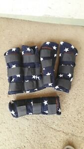 Fleece Travelling Boots And Matching Tail Guard  Small Pony