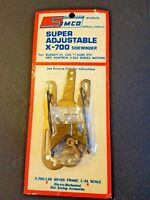 Simco Super Adjustable X700 brass sidewinder chassis. Fits 36D 3.25 to 4.25 WB