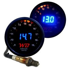 APSX 2 GAUGE COMBO D2 Wideband Air Fuel Ratio + B2 Boost Gauge - BLUE