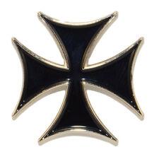 Iron Cross Enamel Pin Brooch Maltese Lemmy Badge Metal Rock Lapel Retro Punk