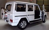 1:24 Scale Mercedes White G-Class G Wagon 24012 Detailed Welly Diecast Model Car