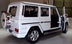 1:24 Scala Mercedes Bianco G Carro 24012 Dettagliato WELLY Modellino Auto
