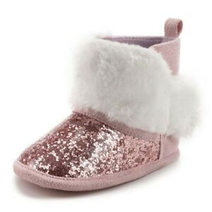 Birthday Gift Infant Sequins Winter Warm Boots Newborn Baby Girl Crib Shoes 0-18