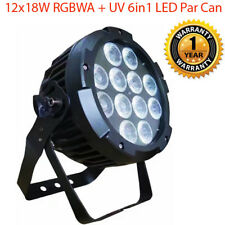 12x18W RGBWA+UV 6in1 Ultra bright LED Par Stage Party Disco Light Effect Wash