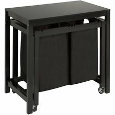 Honey Can Do Double Laundry Sorter with Folding Table, Wo W