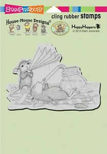 """Stampendous Retired House Mouse Cling Stamp """"Keeping Cool"""" HMCP98"""