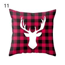 Christmas Elk Square Cotton Linen Throw Pillow Case Cushion Cover Home Decor