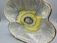 Vtg Mid Century West Germany Amoeba Bowl 1960's Drip Glaze Trinket Dish #442