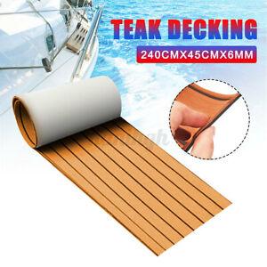 240X45CM EVA Foam Boat Yacht Mat Faux Teak Decking Carpet Marine Flooring Sheet