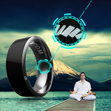 Size 9 Jakcom R3 Waterproof Smart Ring App Enabled Wearable Technology -black