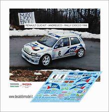 DECALS 1/43 RENAULT CLIO MAXI ANDREUCCI RALLY CIOCCO 1996