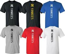 New York NY YANKEES MLB Vertical T-Shirt UNISEX Multi Colors T-SHIRT  S-4XL