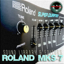 for ROLAND MKS-7 Original Factory and NEW Created Sound Library & Editors on CD
