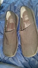 CLARKS CUSHION SOFT FAMOUS FANCY WOMEN'S BROWN SLIP ON LOAFERS SIZE UK 8D EUR 42