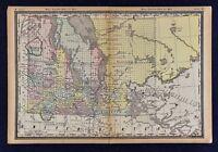 1891 McNally Map - Manitoba - Winnipeg Portage Lake of the Woods Turtle Mountain
