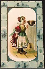 Brussels Belgium ~ Armand Verger Calendar Printer ~ Signed M. Greiner Dutch Girl