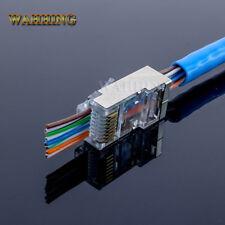 50pcs RJ45 shielded connector cat5e Cat6 network rj45 connector plugs