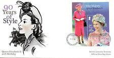 Brit Antarctic Ter BAT 2016 FDC Queen Elizabeth II 90th Bday 1v M/S Cover Stamps