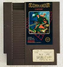 VINTAGE Nintendo NES Video Game - COMMANDO - Rare 5 Screw - TESTED WORKING