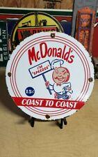 McDonalds SPEEDEE porcelain sign vintage hamburger soda fountain ice cream