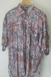 Unbranded Abstract 90s Short Sleeve Collared Shirt Sz L