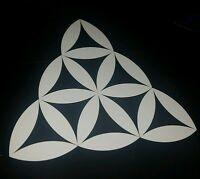 Sacred geometry triangle alien Car vinyl Sticker 100×100mm aussie made & design