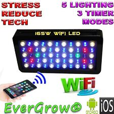 165W WIFI LED saltwater freshwater Aquarium Lighting Coral Reef android iphone