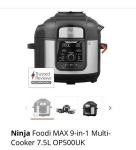 Ninja Foodi MAX 9-in-1 Multi-Cooker 7.5L OP500UK 1760w BRAND NEW !