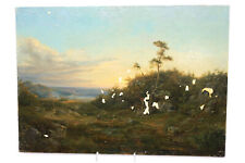 Antikes Gemälde Landschaft wohl Niederländische Schule 18.Jhd