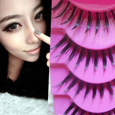 New 5 Pairs Makeup Handmade Long Thick Cross False Eyelashes Eye Lashes e7