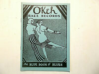 OKeh 78 RPM CATALOGUE c 1927/28 32 pages, photos RACE RECORDS BLUE BOOK OF BLUES