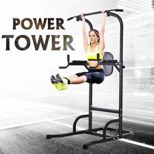 Dip Station Pull Up Bar Fitness Power Tower Body Exercise Equipment Machine OT61