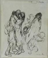 Theophile Alexandre Steinlen (Swiss 1859-1923) Works on Figural Paper