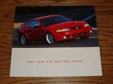 Original 1999 Ford SVT Mustang Cobra Sales Brochure 99