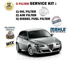 PER ALFA 147 1.9 JTD 2003> Filtro olio carburante ARIA KIT DI MANUTENZIONE (3)