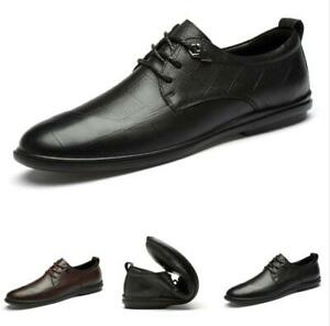 Mens Low Top Business Leisure Shoes Work Office Round Toe Soft Comfy Oxfords L
