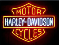 RARE New Harley Davidson HD Motorcycle Bike Real Glass Neon Sign Beer Bar Light