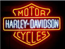 New Harley-Davidson H-D Motor Bike Real Glass Neon Sign Beer Bar Wall Light Lamp