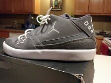 Air Jordan Flight 23 Gray White Suede Pre-owned Size 11.5